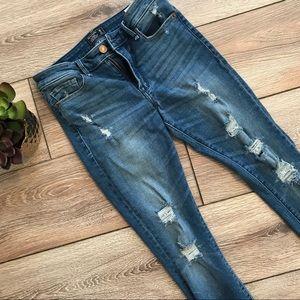 Abercrombie Harper Distressed Skinny Jean
